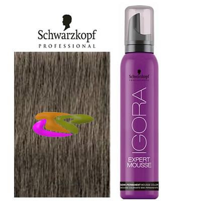 schwarzkopf coloracin mousse semipermanente 8 1 rubio claro ceniza 100 ml - Mousse Colorante Schwarzkopf