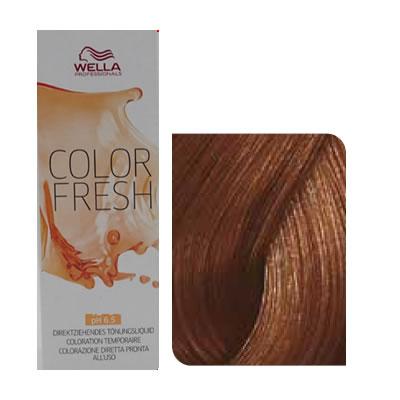 Wella ba o de color color fresh 6 7 rubio oscuro marr n - Bano de color loreal ...
