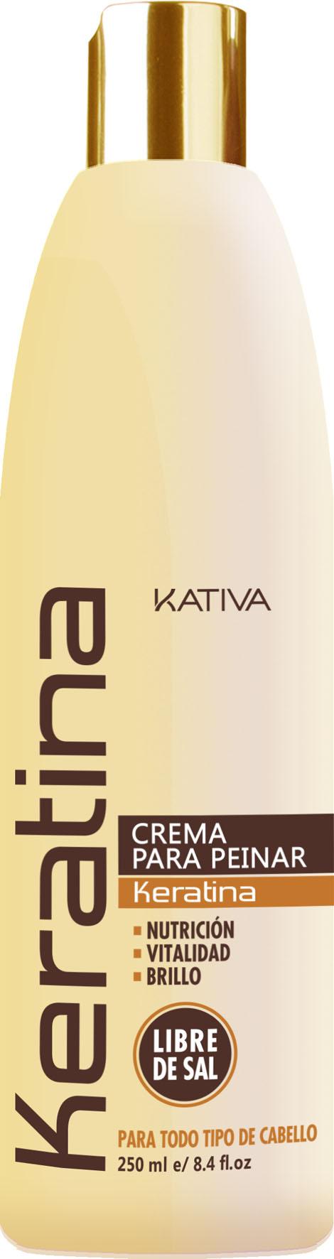 Kativa crema para peinar keratina libre de sal y sin - Bano de keratina precio ...