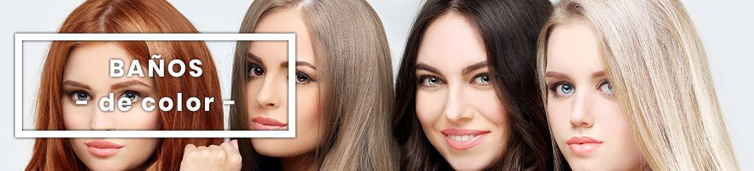 Baños de color para el pelo