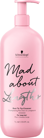 Schwarzkopf - Champú Cabello Largo MAD ABOUT LENGTHS Root To Tip Cleanser (Sin Sulfatos) 1000 ml