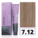 Revlon - Baño COLOR EXCEL Sin Amoniaco 7.12 Rubio Ceniza Irisado 70 ml