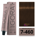 Schwarzkopf - Tinte Igora Royal Absolutes 7/460 Rubio Medio Beige Chocolate 60 ml