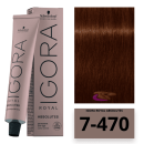 Schwarzkopf - Tinte Igora Royal Absolutes 7/470 Rubio Medio Beige Cobrizo 60 ml
