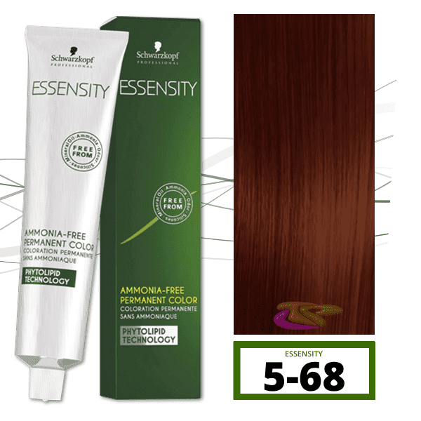 Schwarzkopf - Tinte ESSENSITY Sin Amoniaco Teca 5-68 Castaño Claro Marrón Rojo 60 ml