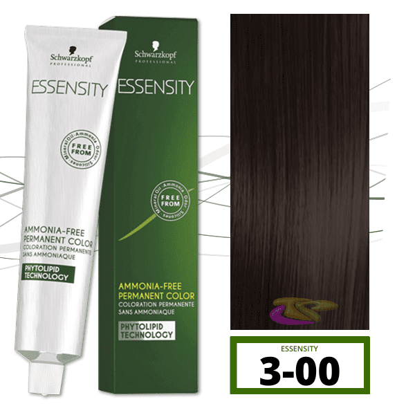 Schwarzkopf - Tinte ESSENSITY Sin Amoniaco Nature+ 3-00 Castaño Oscuro Natural Intenso 60 ml