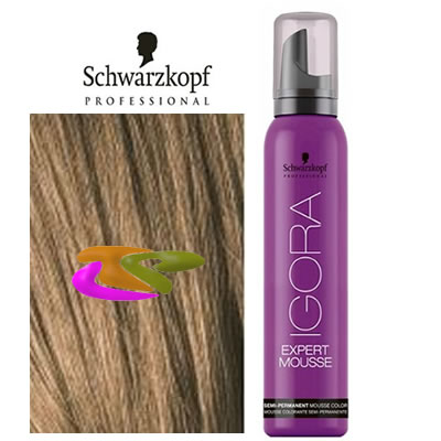 Schwarzkopf - Coloración mousse semipermanente 7-5 Rubio Medio Dorado 100 ml