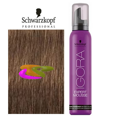 Schwarzkopf - Coloración mousse semipermanente 7-65 Rubio Medio Marrón Dorado 100 ml