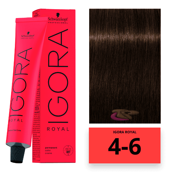 Schwarzkopf - Tinte Igora Royal 4/6 Castaño Medio Marrón 60 ml