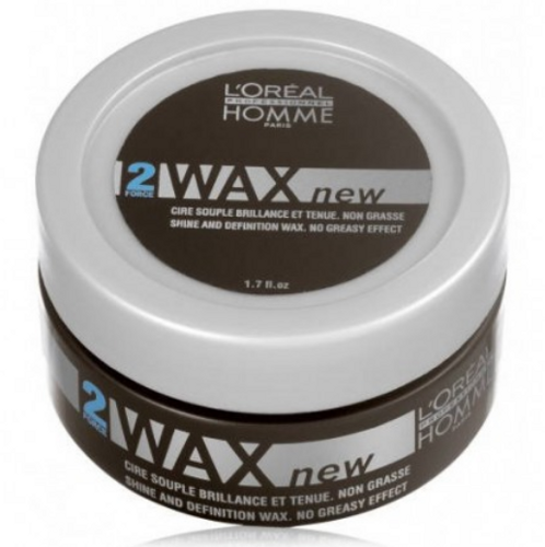 L`Oréal Homme - Cera de brillo WAX 50 ml (fijación flexible)