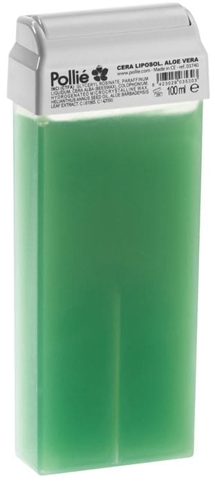 Pollié - Cera Depilatoria Liposoluble ALOE VERA Roll-on 100 ml (03740)