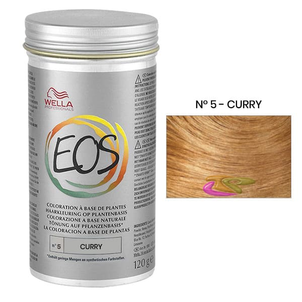 Wella - Tinte Coloración Vegetal EOS Tono Moda Nº V CURRY 120 gramos