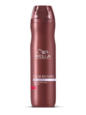 Wella  - Champú Color Recharge Cool Blonde revitalizante del color para cabellos rubios frios 250 ml
