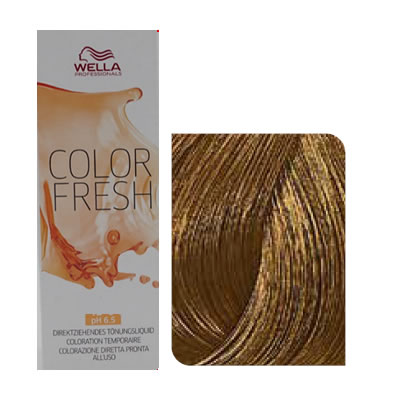 Wella - Baño de color COLOR FRESH 7/3 Rubio Medio Dorado 75 ml