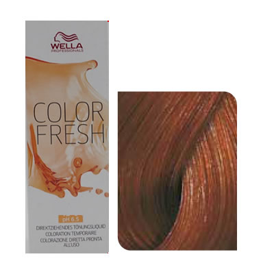 Wella - Baño de color COLOR FRESH 6/34 Rubio Oscuro Dorado Cobrizo 75 ml