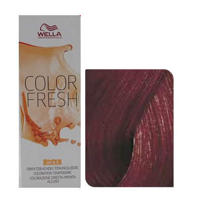 Wella - Baño de color COLOR FRESH 5/56 Castaño Claro Caoba Violeta 75 ml