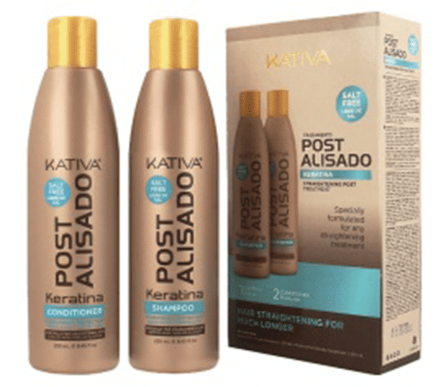 Kativa - Pack POST ALISADO keratina KIT 2 UNIDADES