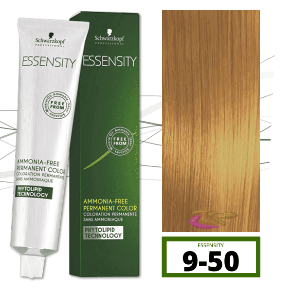 Schwarzkopf - Tinte ESSENSITY Sin Amoniaco Nature 9-50 Rubio Muy Claro Dorado Natural 60 ml