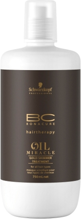 Schwarzkopf Bonacure - Mascarilla OIL MIRACLE Brillo Dorado 750 ml