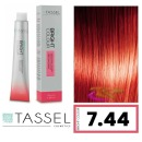 Tassel - Tinte BRIGHT COLOUR con Argán y Keratina Nº 7.44 RUBIO MEDIO COBRE INTENSO 100 ml (03989)