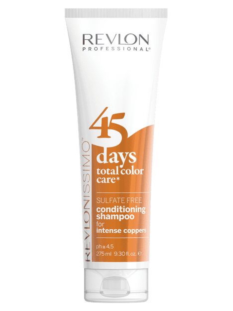 Revlon - Champú y Acondicionador 2 en 1 Total Color Care 45 days INTENSE COPPERS 275 ml