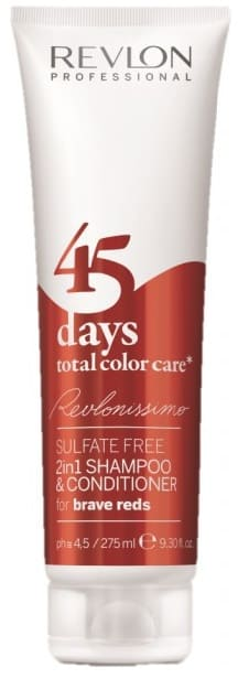 Revlon - Champú y Acondicionador 2 en 1 Total Color Care 45 days BRAVE REDS 275 ml