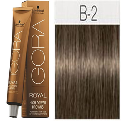 Schwarzkopf -Tinte Igora Royal HIGH POWER BROWNS B-2 60 ml