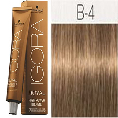 Schwarzkopf -Tinte Igora Royal HIGH POWER BROWNS B-4 60 ml