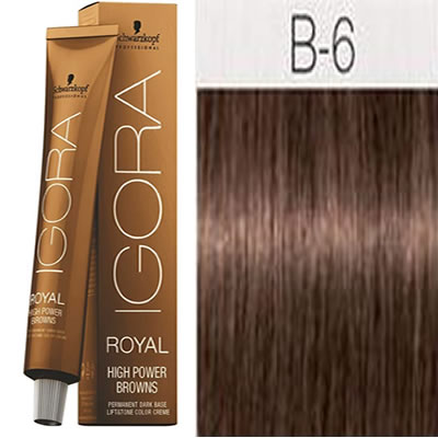 Schwarzkopf -Tinte Igora Royal HIGH POWER BROWNS B-6 60 ml