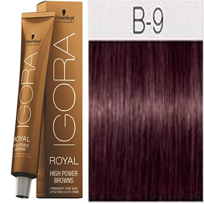 Schwarzkopf -Tinte Igora Royal HIGH POWER BROWNS B-9 60 ml