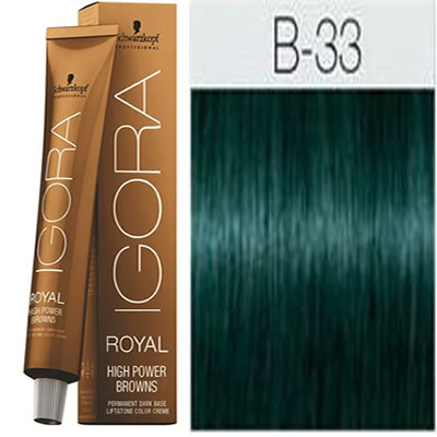 Schwarzkopf -Tinte Igora Royal HIGH POWER BROWNS B-33 60 ml