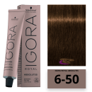 Schwarzkopf - Tinte Igora Royal Absolutes 6/50 Rubio Oscuro Dorado Natural 60 ml