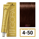Schwarzkopf - Tinte Igora Royal Absolutes 4/50 Castaño Medio Dorado Natural 60 ml