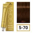 Schwarzkopf - Tinte Igora Royal Absolutes 5/70 Castaño Claro Cobrizo Natural 60 ml