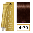 Schwarzkopf - Tinte Igora Royal Absolutes 4/70 Castaño Medio Cobrizo Natural 60 ml