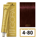 Schwarzkopf - Tinte Igora Royal Absolutes 4/80 Castaño Medio Rojo Natural 60 ml