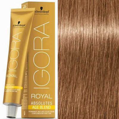 Schwarzkopf - Tinte Igora Royal Absolutes Age Blend 8/07 Rubio Claro Natural Cobrizo 60 ml