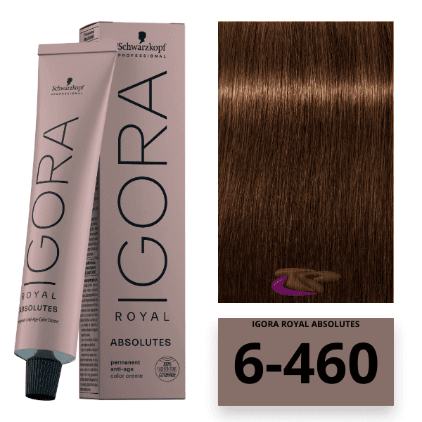 Schwarzkopf - Tinte Igora Royal Absolutes Age Blend 6/460 Rubio Oscuro Beige Chocolate 60 ml