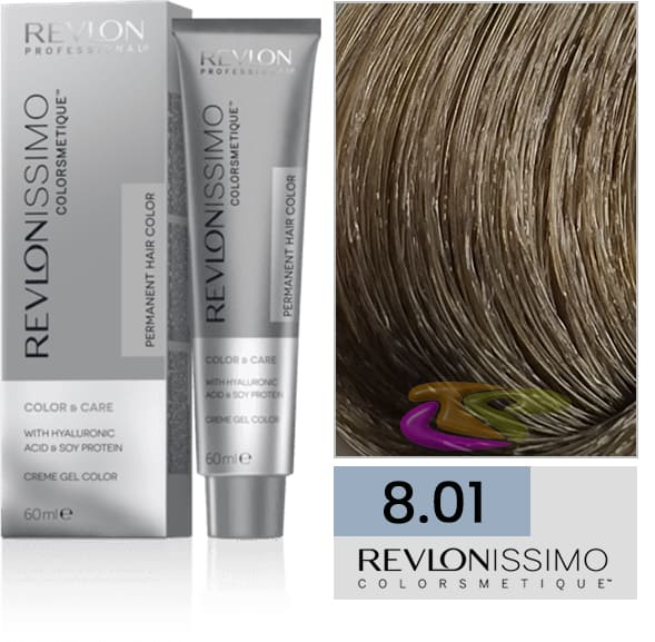 Revlon - Tinte REVLONISSIMO COLORSMETIQUE 8.01 Rubio Claro Ceniza Natural 60 ml
