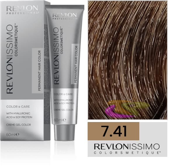 Revlon - Tinte REVLONISSIMO COLORSMETIQUE 7.41 Rubio Avellana 60 ml