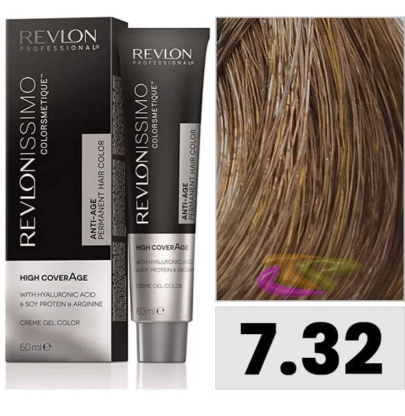 Revlon - Tinte REVLONISSIMO HIGH COVERAGE 7.32 Rubio Dorado Nacarado 60 ml