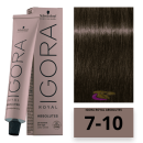 Schwarzkopf - Tinte Igora Royal Absolutes 7/10 Rubio Medio Ceniza Frio 60 ml