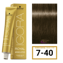 Schwarzkopf - Tinte Igora Royal Absolutes 7/40 Rubio Medio Beige Frio 60 ml