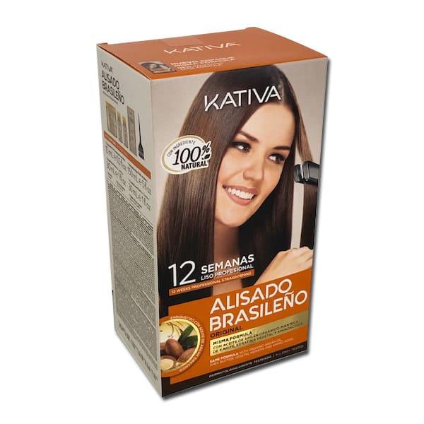 Kativa - Kit ALISADO BRASILEÑO (para todo tipo de cabellos) con aceite de  argan para HACER EN CASA 150 ml 2c78833f691