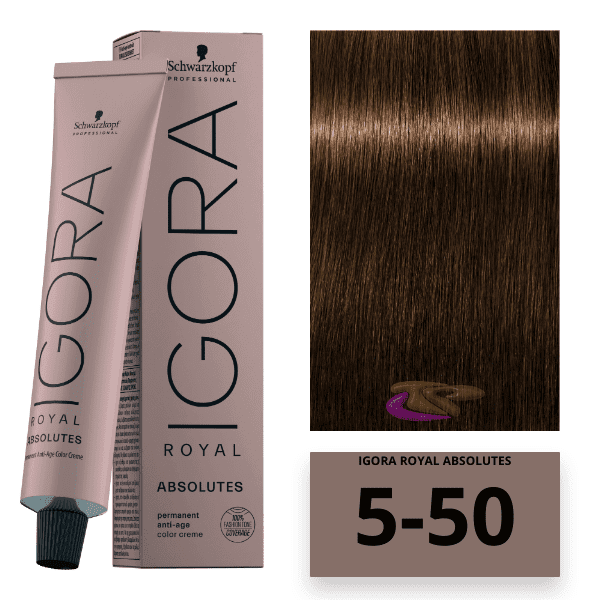 Schwarzkopf - Tinte Igora Royal Absolutes 5/50 Castaño Claro Dorado Natural 60 ml