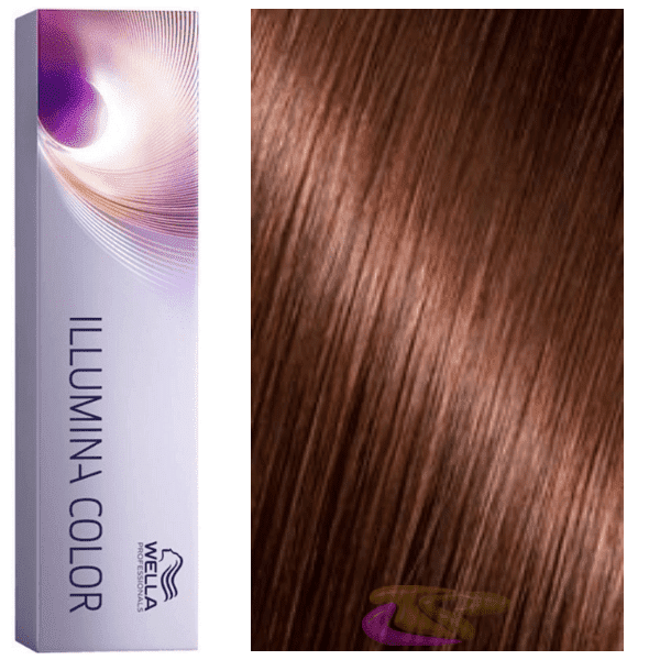 Wella - Tinte Illumina Color 5/35 Castaño Claro Dorado Caoba 60 ml