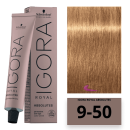 Schwarzkopf - Tinte Igora Royal Absolutes 9/50 Rubio Muy Claro Dorado Natural 60 ml