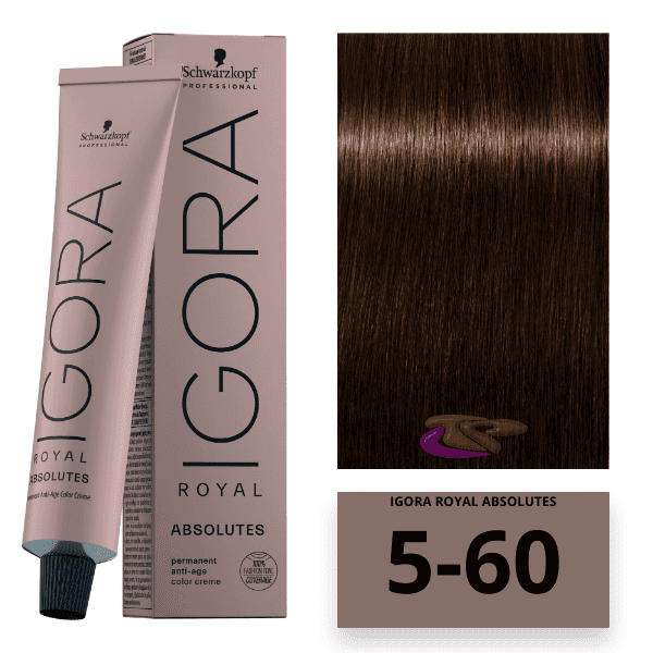 Schwarzkopf - Tinte Igora Royal Absolutes 5/60 Castaño Claro Marrón Natural 60 ml
