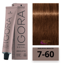 Schwarzkopf - Tinte Igora Royal Absolutes 7/60 Rubio Medio Marrón Natural 60 ml