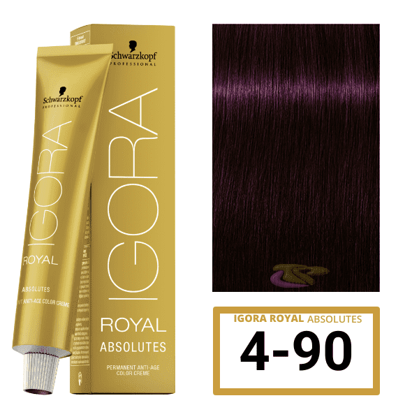 Schwarzkopf - Tinte Igora Royal Absolutes 4/90 Castaño Medio Violeta Natural 60 ml